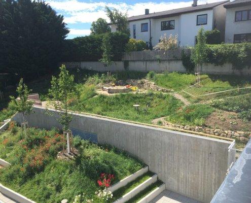 Gartengestaltung Wohnhausanlage Wien