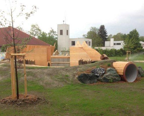 Holzspielplatz Gestalten