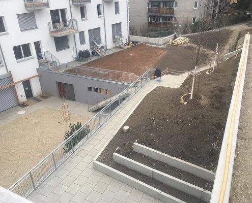 Wohnhausanlage Gartengestaltung